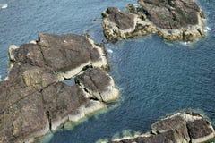 Rocce scozzesi del mare Fotografie Stock