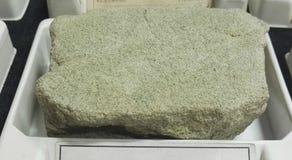Rocce sedimentarie dell'arenaria del Glauconite fotografie stock libere da diritti