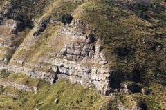 Rocce sedimentarie, stratigrafia Fotografie Stock Libere da Diritti