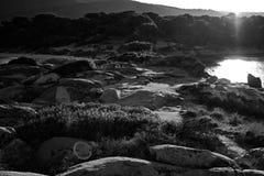 Rocce Spiaggia Fotografie Stock