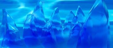 Rocce straniere blu royalty illustrazione gratis