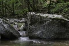 Rocce sul fiume Pakra, Croazia Fotografia Stock Libera da Diritti