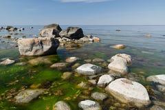 Rocce sul litorale Fotografie Stock Libere da Diritti