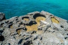 Rocce sulla riva Immagine Stock