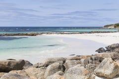 Rocce sulla spiaggia a Augusta Fotografia Stock Libera da Diritti