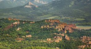 Rocce vicino alla città di Belogradchik bulgaria Fotografie Stock