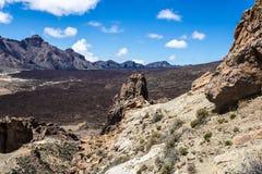 Rocce vulcaniche vicino al supporto Teide, Tenerife, isole Canarie, Spagna - immagine immagine stock libera da diritti