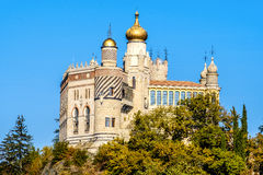 Rocchetta马太城堡在廖拉,格里扎纳莫兰迪-赞成波隆纳 库存照片