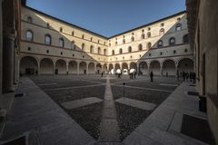 The Rocchetta Courtyard, Castello Sforzesco, Milan royalty free stock photos