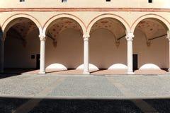 Rocchetta för la för Milano milan castellosforzesco Royaltyfri Foto