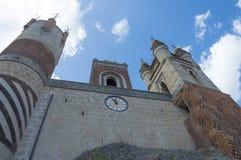 Particular 900s Castle with bastions. Rocchetta Mattei castle in Riola, Grizzana Morandi - Bologna province Emilia Romagna, Italy Stock Image