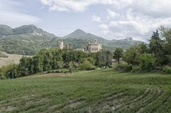 The Rocchetta Mattei in a Moorish style. View of the Rocchetta Mattei in a Moorish style Royalty Free Stock Images
