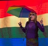 Rocci帮助与博伊西Pridefest的约翰逊 图库摄影