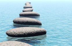 Roccia in acqua Fotografie Stock