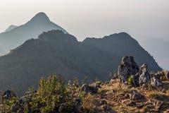Roccia all'alta montagna Immagini Stock Libere da Diritti