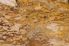 Roccia arancione della quarzite Fotografia Stock