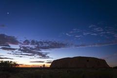 Roccia Ayers/di Uluru ad alba, Territorio del Nord, Australia fotografia stock