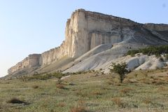 Roccia bianca in Crimea fotografie stock libere da diritti
