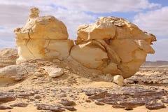 Roccia bianca del calcare e del deserto fotografia stock libera da diritti