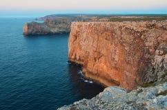 Roccia Cabo de Sao Vicente Fotografia Stock
