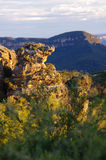 Roccia capa dei verri al tramonto Fotografia Stock