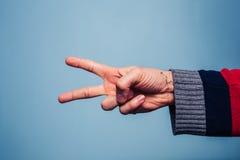 Roccia, carta, forbici Fotografia Stock Libera da Diritti