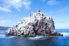 Roccia Catalina Island della nave Fotografie Stock Libere da Diritti