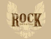 Roccia con le ali Immagine Stock