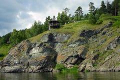 Roccia con le pitture antiche della roccia Fotografia Stock Libera da Diritti
