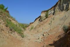 Roccia cretacea Immagini Stock Libere da Diritti