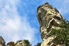 Roccia d'attaccatura Fotografia Stock