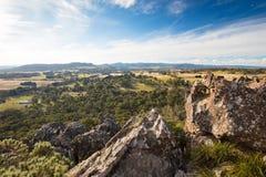 Roccia d'attaccatura nelle gamme di Macedon Fotografia Stock