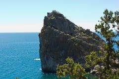 Roccia dal mare Fotografie Stock