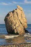 Roccia dei Aphrodites, Cipro Fotografie Stock Libere da Diritti