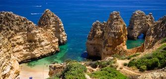 Roccia del Algarve Immagine Stock