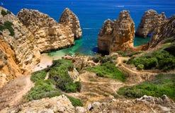 Roccia del Algarve Fotografia Stock