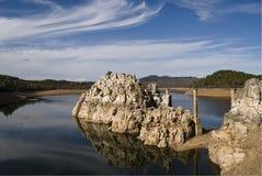 Roccia del bacino idrico Immagine Stock
