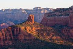 Roccia del camino ad alba Sedona Fotografie Stock