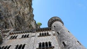 roccia del castel del rocamadour immagini stock libere da diritti
