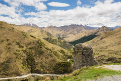Roccia del faro in canyon dei capitani, Nuova Zelanda Fotografie Stock
