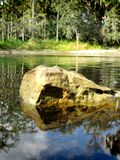 Roccia del fiume Fotografia Stock Libera da Diritti