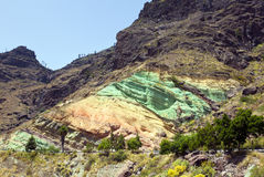 Roccia del Fuente de Los Azulejos, Gran Canaria Fotografia Stock