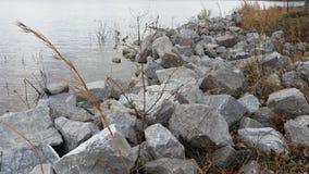 Roccia del lago Immagine Stock