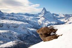 Roccia del Matterhorn Fotografia Stock