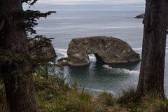 Roccia dell'arco nell'Oregon Fotografia Stock