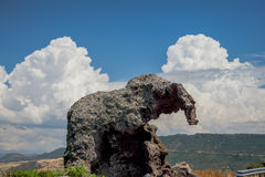 Roccia dell`elefante. Elephant Rock is a large mass of trachyte stone royalty free stock image