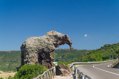 Roccia dell`elefante. Elephant Rock is a large mass of trachyte stone stock images