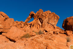 Roccia dell'elefante in valle del parco di stato del fuoco Fotografia Stock
