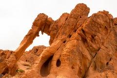 Roccia dell'elefante in valle del parco di stato del fuoco, U.S.A. Immagini Stock Libere da Diritti