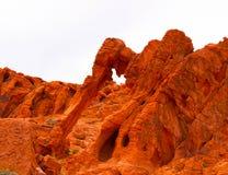 Roccia dell'elefante in valle del parco di stato del fuoco, U.S.A. Fotografia Stock